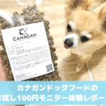 カナガンドッグフードお試し100円モニター
